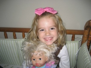 Makayla with her favorite doll...